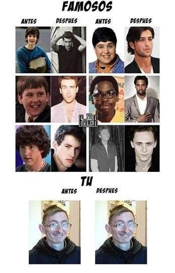 antes y despues - meme