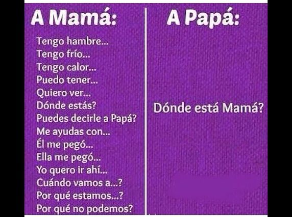 Con mama y con papa - meme