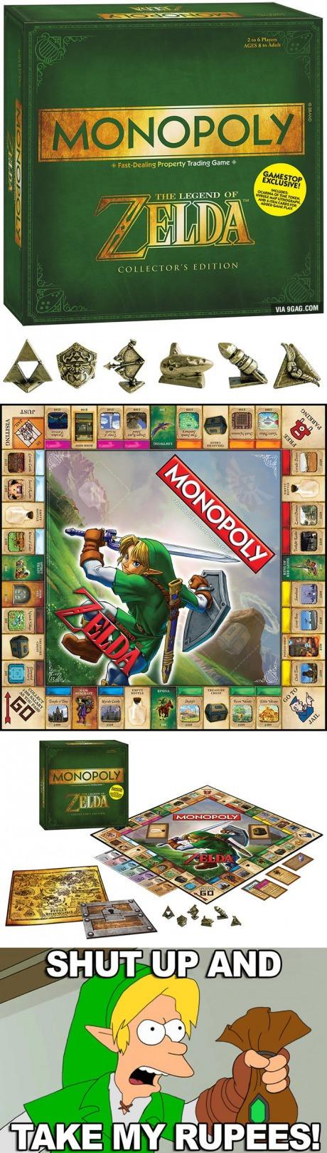 Este Es El Monopoly Zelda Sale El Proximo Mes Meme By Otaner
