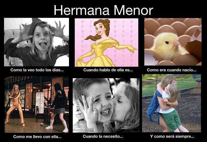hermana menor - meme